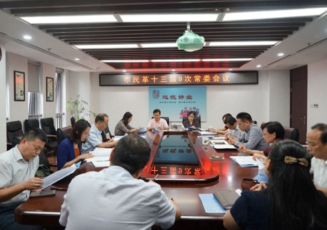 民革武汉市委会召开十三届九次常委会议