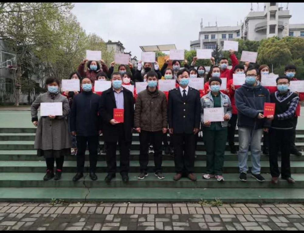 华夏康复驿站参战医护人员合影